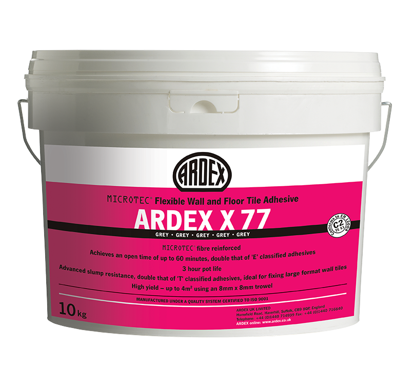 ARDEX MICROTEC® Flexible Standard Set Tile Adhesive 10kg Bucket