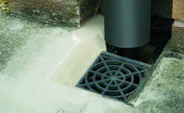 Concrete repair mortar for drains