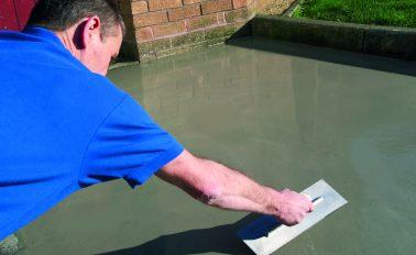 Resurfacing a concrete driveway