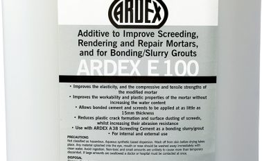 ARDEX E 100 Additive to Improve Screeding Mortars, and for Bonding/Slurry Grouts