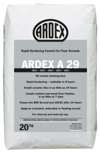 ARDEX A 29 Rapid Hardening Cement for Internal and External Floor Screeds