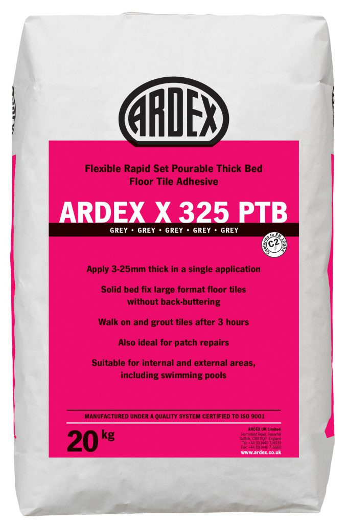 ARDEX X 325 PTB Pourable Thick Bed Tile Adhesive