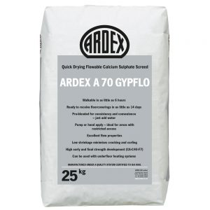 ARDEX A 70 GYPFLO - quick drying, flowable Calcium Sulphate screed