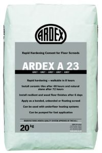 ARDEX A 23 Rapid Drying Cement for Internal Screeds