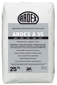 ARDEX A 35 Ultra Rapid Drying Cement for Internal Screeds