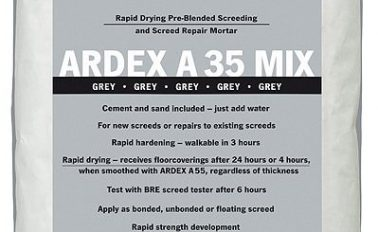 ARDEX A 35 MIX - Pre-Blended Ultra Rapid Drying Cement for Internal Screeds