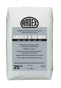ARDEX A 38 MIX Pre-Blended Ultra Rapid Drying Cement for Internal & External Screeds