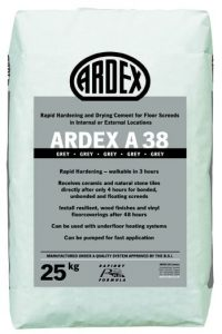 ARDEX A 38 Ultra Rapid Drying Cement for Internal & External Screeds