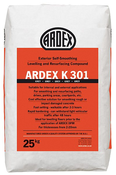 Ardex K 301 Exterior Self Smoothing Levelling Resurfacing Compound