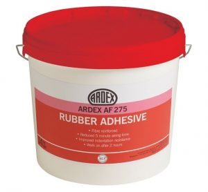 Rubber flooring adhesive
