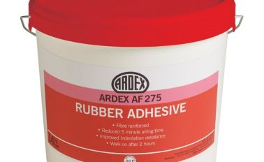 Rubber flooring adhesive