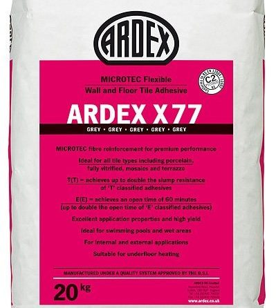 ARDEX X 77 MICROTEC® Flexible Standard Set Tile Adhesive